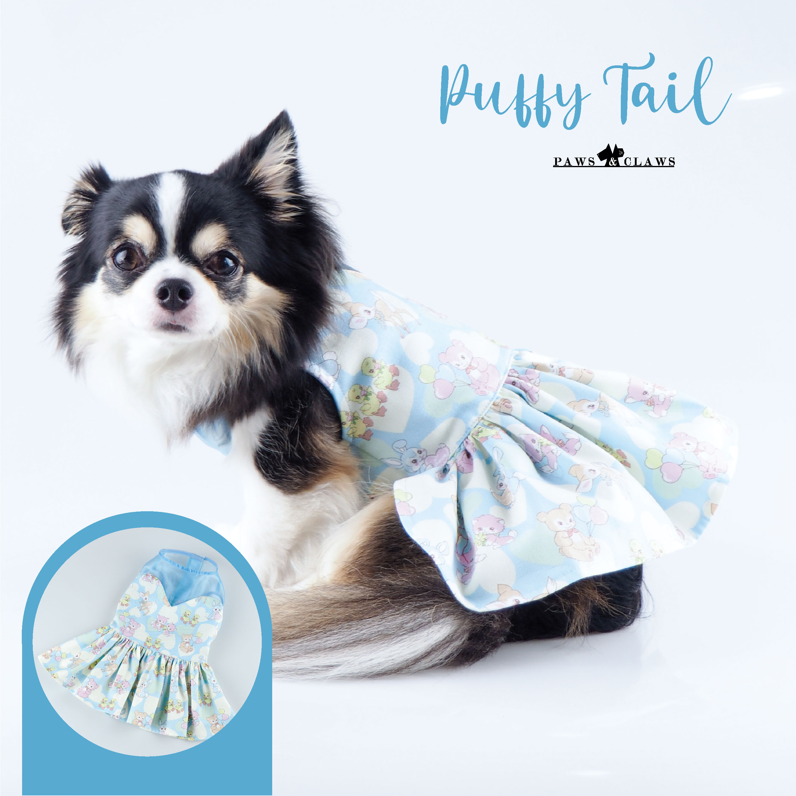 Puffy Tail (Blue)