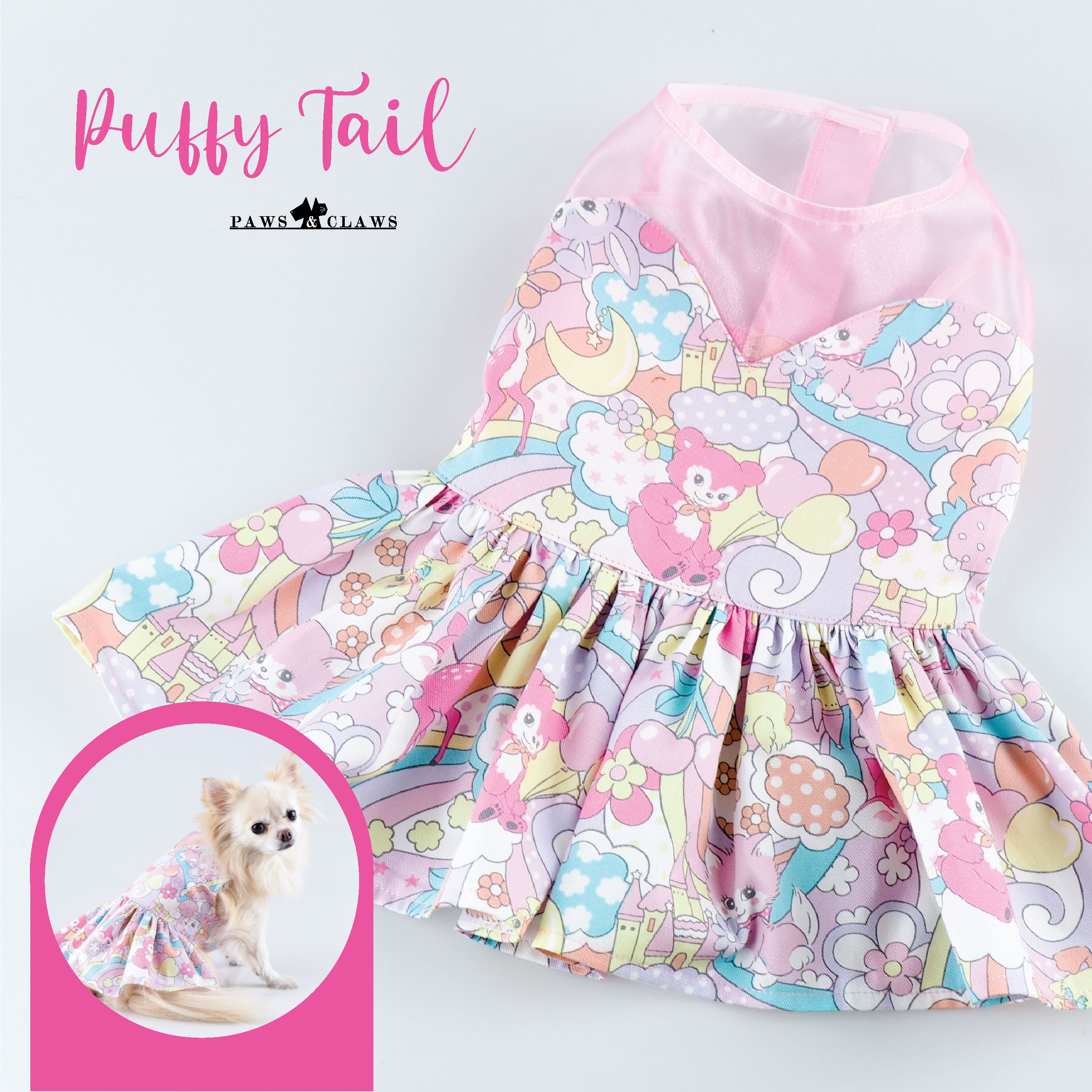 Puffy Tail (Pink)